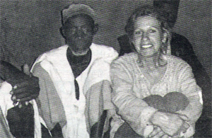Jane Drew with the tribal chief who gave her the land to build the new orphanage.